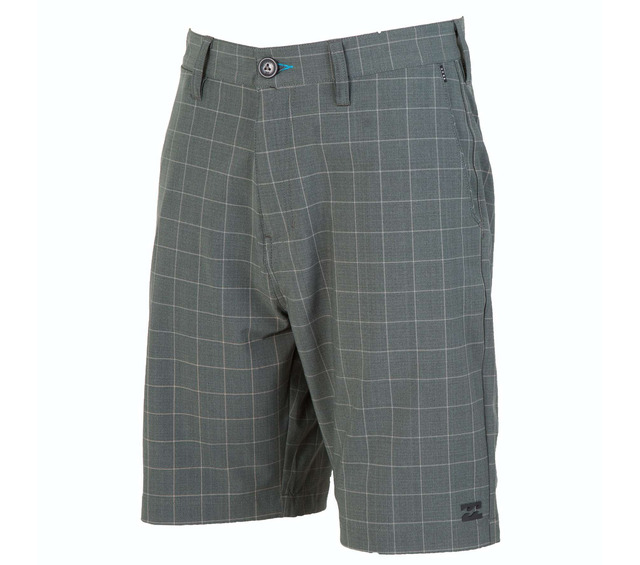 CROSSFIRE X PLAID BLACK SUBMERSIBLE SHORT FRONT