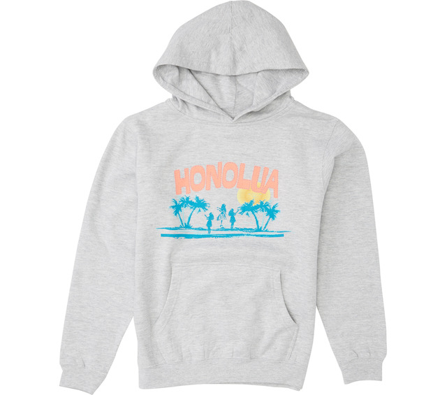 HONOLUA SURF KIDS HULA HOODED PULLOVER FLEECE