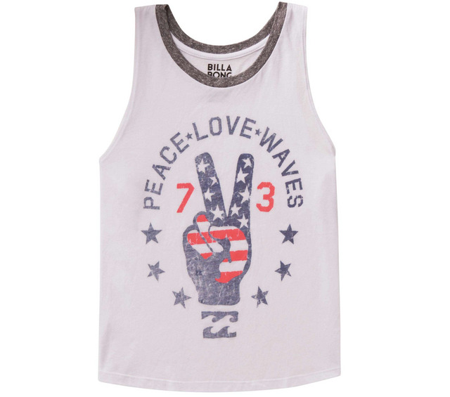BILLABONG TANKS PEACE LOVE WAVES TANK
