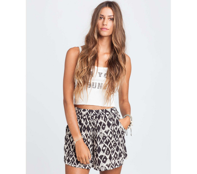 BILLABONG HONOLUA PRODUCTS WANDERING HEART HIGH WAIST SKORT