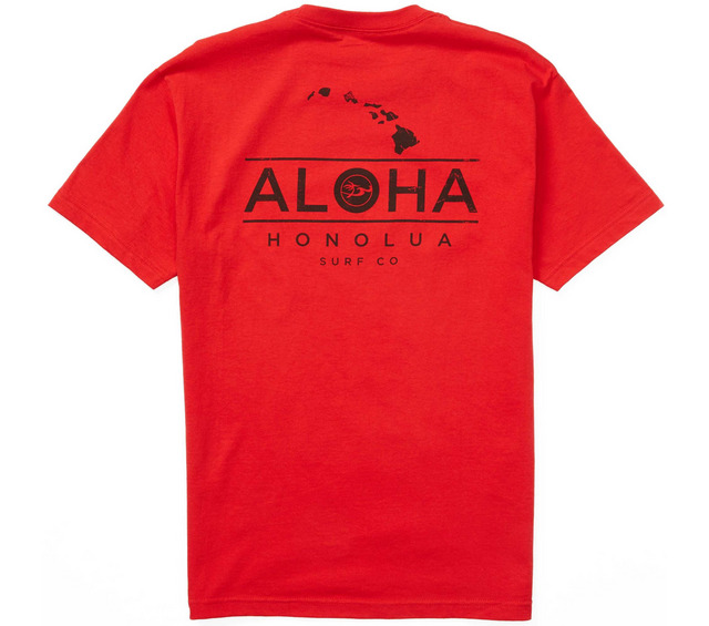 HONOLUA SURF CLOTHING ALOHA CHAIN SHORT SLEEVE TEE