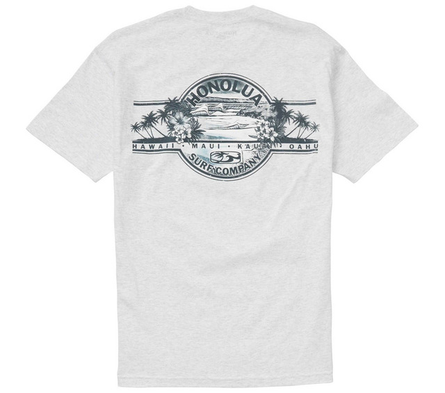 HONOLUA SURF CLOTHING AUTHENTIC LABEL SS TEE