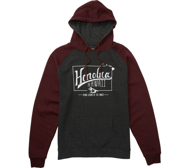 HONOLUA SURF - FLEECE & HOODIES LIFETIME HOODED PULLOVER FLEECE