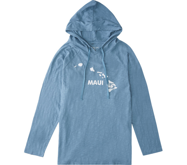 HONOLUA SURF CLOTHING MAUI PULLOVER T-SHIRT HOODIE