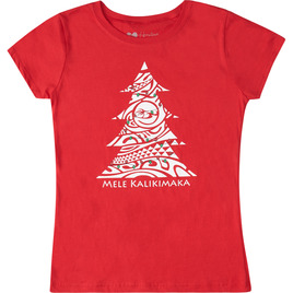 HONOLUA SURF KIDS GIRLS' KALIKIMAKA TEE RED