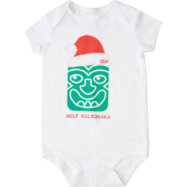HONOLUA SURF KIDS TIKI KALIKI ONESIE WHITE