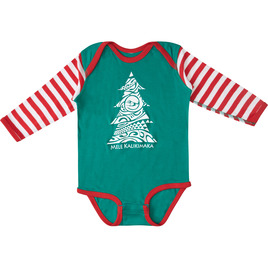 HONOLUA SURF KIDS KALIKI ELF ONESIE GREEN