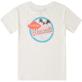 HONOLUA SURF - TANKS GREETINGS TEE SALT CRYSTAL