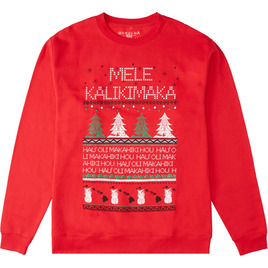 HONOLUA SURF - SWEATSHIRTS & HOODIES FAIRISLE KALIKI CREW RED