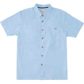 HONOLUA SURF - SHIRTS & POLOS MAALAHI SHORT SLEEVE BUTTON DOWN LIGHT BLUE