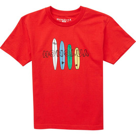HONOLUA SURF KIDS BOY'S BOARDHOUSE SS TEE RED