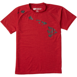 HONOLUA SURF KIDS BOY'S LINK RASHGUARD RED