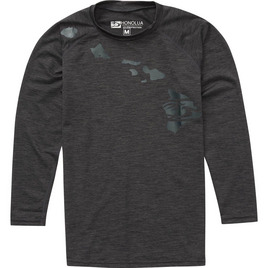 HONOLUA SURF KIDS BOYS HEATHERED LINK LS RASHGUARD BLACK