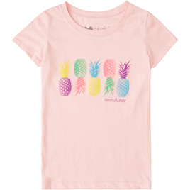 HONOLUA SURF KIDS PINA LOCA TEE LIGHT PINK