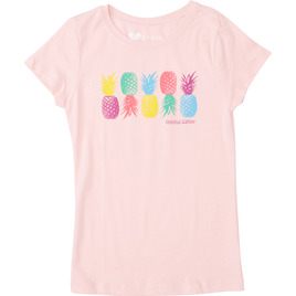 HONOLUA TEES & TANKS GIRL'S PINA LOCA TEE LIGHT PINK