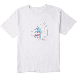 HONOLUA TEES & TANKS GIRL'S SURF BUNNY TEE ASH