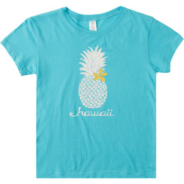 HONOLUA SURF TEES & TANKS HI-PINEAPPLE GIRL BERRY