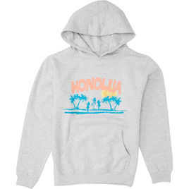 HONOLUA FLEECE & HOODIES HULA HOODED PULLOVER FLEECE GREY HEATHER