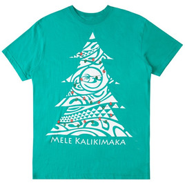 HONOLUA SURF MENS-HAWAIIAN-CLOTHING MEN'S KALIKIMAKA TEE GREEN