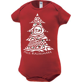HONOLUA SURF KIDS KALIKIMAKA ONESIE RED