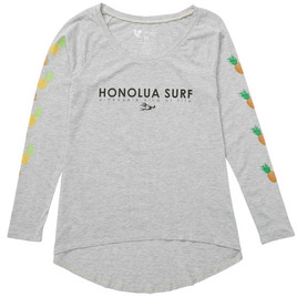 HONOLUA SURF - TEES PINEAPPLE LEI LS TEE HEATHER GREY
