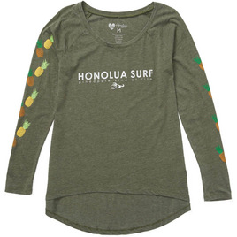 HONOLUA SURF - TEES PINEAPPLE LEI LS TEE MOSS