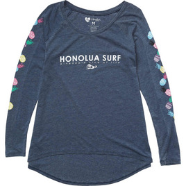 HONOLUA SURF - TEES PINEAPPLE PARTY LS TEE NAVY