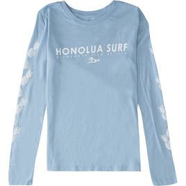 HONOLUA SURF - TEES PINEAPPLE LONG SLEEVE TEE LIGHT BLUE HEATHER