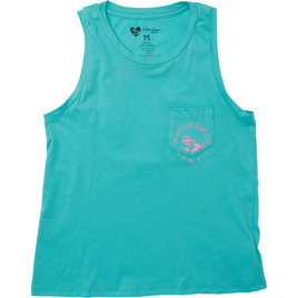 HONOLUA SURF WOMENS-HAWAIIAN-TEES SUNSET PALM TANK SEAGREEN