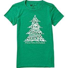 HONOLUA - TEES WOMENS KALIKIMAKA TEE GREEN
