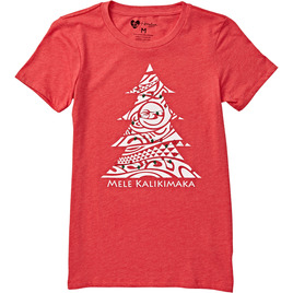 HONOLUA - TEES WOMENS KALIKIMAKA TEE RED