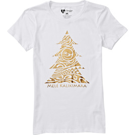 HONOLUA - TEES WOMENS KALIKIMAKA TEE WHITE