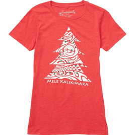 HONOLUA SURF - TEES WOMEN'S KALIKIMAKA TEE RED