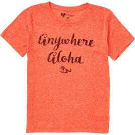 HONOLUA SURF - TEES ANYWHERE ALOHA SS TEE RAD RED