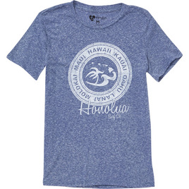 HONOLUA SURF WOMENS-HAWAIIAN-TEES ROTATION SS TEE BLUE CRUZ