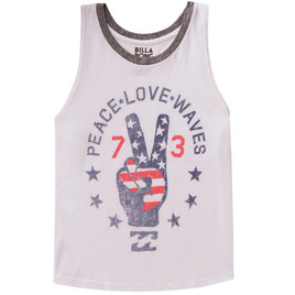 BILLABONG WOMENS-TANKS PEACE LOVE WAVES TANK