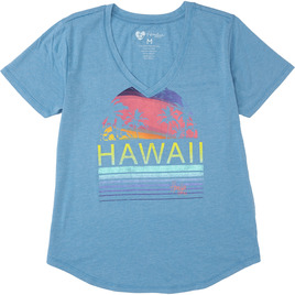 HONOLUA SURF WOMENS-HAWAIIAN-TEES DAWN TEE PARISIAN BLUE
