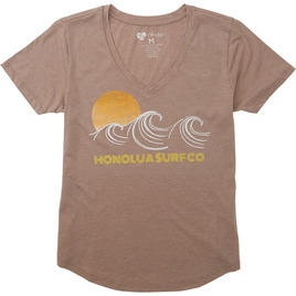 HONOLUA SURF - TEES SUNSET WAVES SS TEE TAUPE