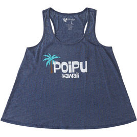 HONOLUA SURF - TANKS POIPU RACERBACK HEATHERED TANK TOP NAVY