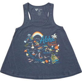 HONOLUA SURF - TEES HAPPY MAP TANK NAVY