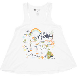 HONOLUA SURF - TEES HAPPY MAP TANK WHITE