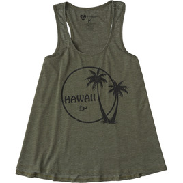 HONOLUA SURF WOMENS-HAWAIIAN-TEES PALM OUT TANK MOSS