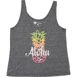 HONOLUA SURF - TANKS & TOPS RAINBOW PINEAPPLE TANK BLACK