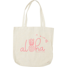HONOLUA SURF WOMENS-HAWAIIAN-BACKPACKS ISLAND LIFE TOTE BAG NATURAL