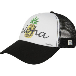 HONOLUA SURF WOMENS-HAWAIIAN-ACCESSORIES PINA COLADA TRUCKER HAT BLACK