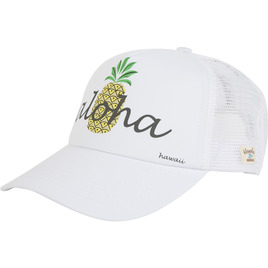 HONOLUA SURF ACCESSORIES PINA COLADA TRUCKER HAT WHITE
