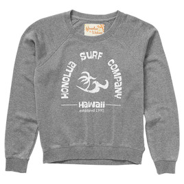 HONOLUA SURF - FLEECE & HOODIES SURF ESTABLISHED FLEECE HEATHER GREY