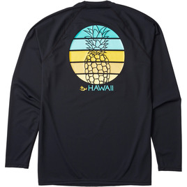 HONOLUA SURF WOMENS-HAWAIIAN-RASHGUARDS HALA KAHIKI LS RASHGUARD BLACK
