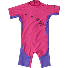 HONOLUA SURF KIDS KIDS PLAYDATE RASHGUARD SUIT MAGENTA