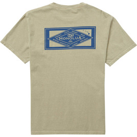 HONOLUA SURF CLOTHING DIAMOND SHORT SLEEVE TEE KHAKI